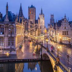 Nights in Ghent, Belgium .