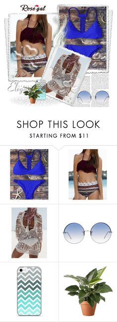 """""""Rosegal - Free shipping worldwide 2"""" by irmica-831 ❤ liked on Polyvore featuring Linda Farrow and Valentino"""