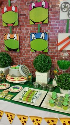 Teenage Mutant Ninja Turtles birthday party! See more party ideas at CatchMyParty.com!