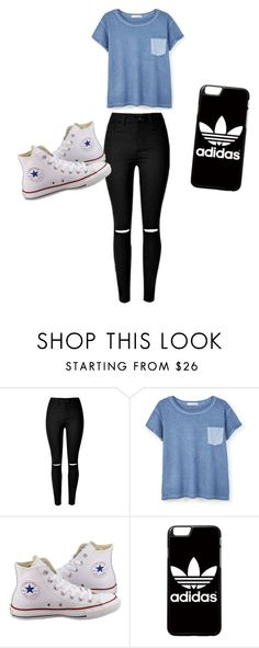 """Untitled #24"" by cynthiaxgarcia on Polyvore featuring MANGO, Converse and adidas"