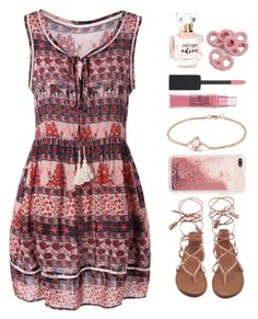 """""""Hot (pink) Summer Date"""" by krgood7 ❤ liked on Polyvore featuring Refuge, David Yurman, Maybelline, strappysandals, LovelyLipstick, PerfectlyPinkPretzels, BlushBracelet and FabulousPhone"""