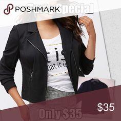 Lane Bryant Moto Jacket Size Fabulous jacket! Super comfortable, versatile and stylish. Jackets & Coats