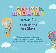 Hi everyone! Words & Blocks version 2.1 is already out. Download Now - https://itunes.apple.com/us/app/words-and-blocks/id643287994?ls=1&mt=8  #wordsandblocks #spelling #matching #educationalapp #gamesforkids