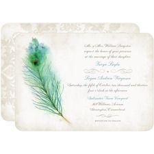Peacock Plume Wedding Invitations