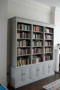 Bespoke wardrobes, alcove units, Floating shelves and under stair storage Built In Shelves Living Room, Living Room Bookcase, Bookcase Wall, Bookshelves Built In, Living Room Storage, Bookcases, Living Room Display Cabinet, Alcove Cabinets, Large Bookcase