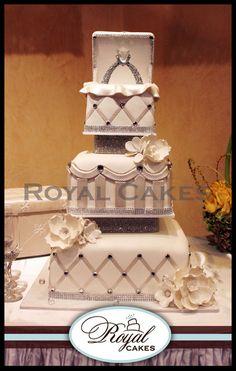 elaborate gold cake   Engagement Cakes   Royal Cakes