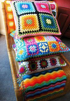 Crochet pillows-