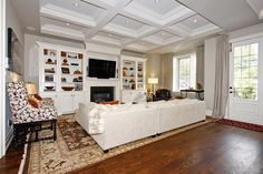 Living Room Built In White Tv Cabinet Design, Pictures, Remodel, Decor and Ideas - page 2