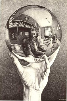 M. C. Escher, Hand with reflecting sphere... unreal