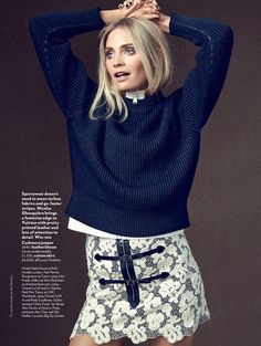 Heidi Mount Wears the Neutral Trend for Red Magazine by Max Abadian - Louis Vuitton Fall 2015