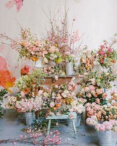"""You can never have too much pink or too many flowers #regram @tulipinadesign"""""""