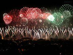 """""""Hanabi Matsuri"""" é uma espécie de festival de queima de fogos de artifício famosa no Japão."""