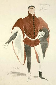 Henry IV, Part I New Theatre, 1945 Costumes designed by Roger Furse  Roger Furse (1903-1972) Costume design for Henry IV, Part I, 1945 Laurence Olivier as Hotspur (Henry Percy)