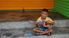 a boy busking on the street and making an absolute killing!