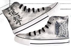 attack on titan converse hand painted converse by Kingmaxpaints, $46.00