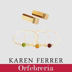 Hermoso set de pulseras + zarcillos perteneciente a nuestro catálogo de orfebrería 2015/2016 disponible a través de contacto@karenferrer.com, hacemos envíos internacionales.  #girls #women #necklace #metalcraft #accesories #diseñovenezolano #fashion #jewelry #bracelet #earrings