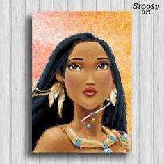 #pocahontas poster #disneyprincess watercolor nursery girl painting