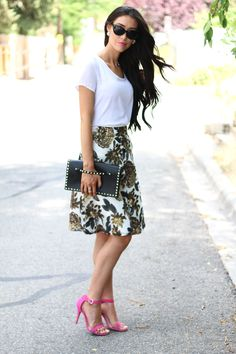 Brittany Maddux: Sequin Skirt | olive and piper luxe cluster studs #blogger #ootd