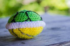 super mario bros amigurumi handmade crochet turtle shell. $25.00, via Etsy.