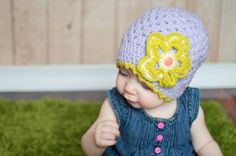 Crochet girl hat, baby beanie, hand made trend, 9 month girl, 1st birthday hat, baby shower gift, baby girl clothes, baby trending, lavender - pinned by pin4etsy.com