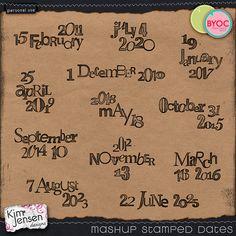 Mashup Stamped Dates