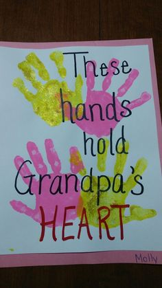 Fathers Day Gifts 2019 handprint valentines card for Grandp.- Fathers Day Gifts 2019 handprint valentines card for Grandpa - Grandparents Day Crafts, Grandma Crafts, Mothers Day Crafts For Kids, Grandparent Gifts, Fathers Day Crafts, Kids Crafts, Baby Crafts, Grandpa Birthday Gifts, Grandpa Gifts