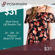 Cold Shoulder Top Floral Cold Shoulder Top 2 available in Medium & 2 available in Large LaScala Tops Tank Tops