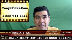 Friday College Football Free Picks Week 1 Odds TV Games 9-2-2016