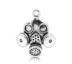 Zombie Gas Mask charms  body parts   apocalypse   by pinksupply, $3.49