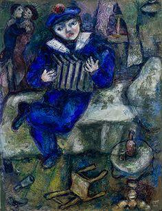 Marc Chagall, Fisarmonica, 1912/1914. Gouache e matita colorata su carta, 67x52,3 cm.