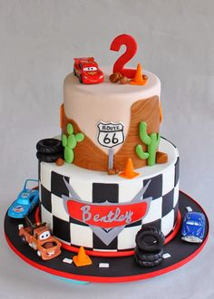 Disney Cars Lightning McQueen Cake                                                                                                                                                      More