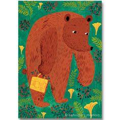 Kehvola Design / Matti Pikkujamsa [ Karhu ] postcard -bear