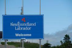 Newfoundland and Labrador Welcome sign