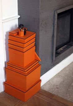 orange Hermes Boxes for the home