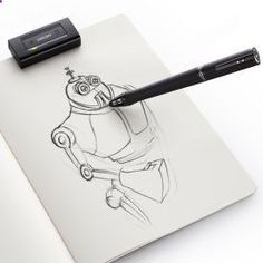 The Inkling is a digital sketch pen that allows you to draw or sketch on any standard piece of paper (a big advantage over Livescribe, which requires special notebooks) and automatically have a digital version created.