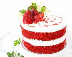 Red velvet cake, la ricetta originale e super facile della torta di velluto rosso americana Velvet Cake, Red Velvet, Dessert Recipes, Desserts, Panna Cotta, Cheesecake, Food Porn, Ethnic Recipes, Naked