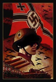 WW II Nazi Propaganda Poster  [771eac34b3d6d91ece03f9422873cc34.jpg (299×432)]