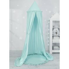 Sweet baby baldachin szett elegant (párna nélkül) - menta Ruffle Pillow, Baby Nest, Hiding Places, Blue Pillows, Cot, Bassinet, Canopy, Decorative Pillows, Toddler Bed