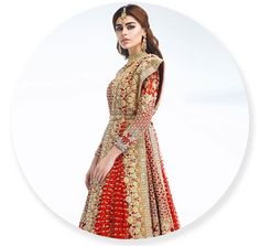 Red Bridal Lehenga by ❤ Pakistani Models, Pakistani Couture, Pakistani Bridal Dresses, Pakistani Outfits, Indian Dresses, Bridal Lehenga, Wedding Dresses, Desi Clothes, Bridal Outfits