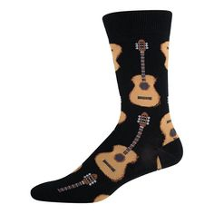 Socksmith Men/'s Crew Chaussettes Carlin Chiots Marron nouveauté Chaussures