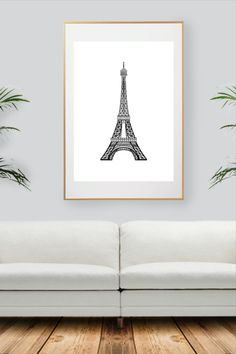 Black And White Wall Art, Paris Eiffel Tower, City Art, Decoration, All Print, Collection, Handmade Gifts, Prints, Etsy