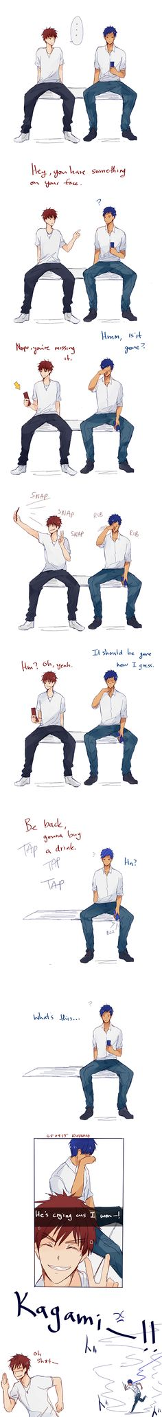 KAGAMI TAIGA VS AOMINE DAIKI !!! holy Shit he pranked him!!! Hahaha This is so funny!!!!
