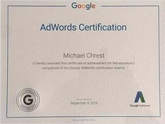 """SEO Experts """"MRC SEO Consulting"""" Owner Michael Crest Received Professional Google Adwords Certification - Press Release - Digital Journal"""