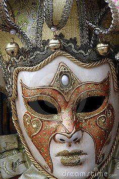 Traditional carnival mask from Venice, Italy