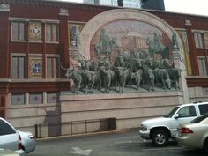 Fort Worth, TX (Cowtown) This is a mural painted on the side of this  building at Sundance Square