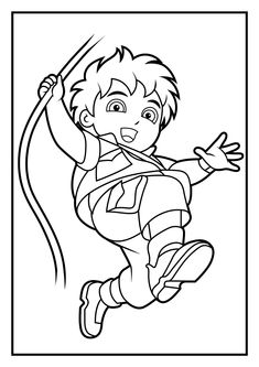 cloring+pages | Dora Coloring Pages | Diego Coloring Pages