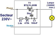 variateur a triac realisation 1 Ac Circuit, Circuit Diagram, Hobby Electronics, Electronics Projects, Tesla Free Energy, Light Dimmer Switch, Power Engineering, Ac Fan, Motor Speed