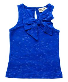 Another great find on #zulily! Royal Blue Summer Bow Tank - Toddler & Girls #zulilyfinds
