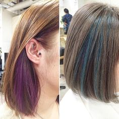 Pin by Narim on i like in 2020 Hair Color Streaks, Hair Color For Black Hair, Cool Hair Color, Green Hair, Blue Hair, Violet Hair, Burgundy Hair, Hair Colors, Pink Hair Dye