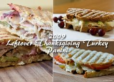 Thanksgiving Leftovers - WOW! This Turkey-Apple Salad Melt Panini looks great!